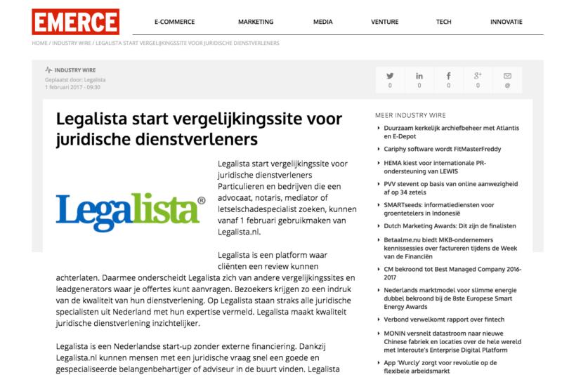 legalista op Emerce.nl
